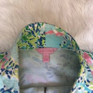Lilly Pulitzer Tops - Lilly Pulitzer Blue Heaven Skipper Popover
